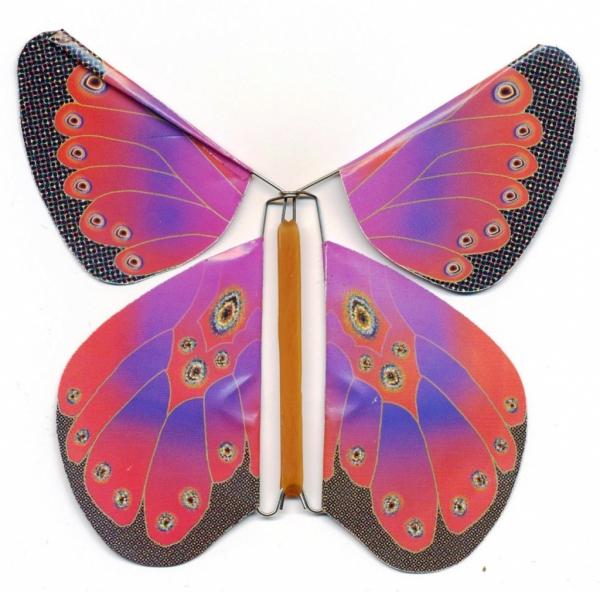 Открытка с летающей бабочкой своими руками